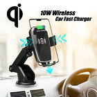 10W Gravity QI Wireless Fast Charger Dock Car Holder Mount For iPhone X XS MAX