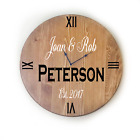 Oversized Wall Clock with Personalized Family Name