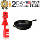 L8SK3 10.25 inch Cast Iron Skillet, Pre-Seasoned and and Ready for Stove Top or