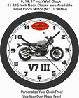 2019 MOTO GUZZI V7 III CARBON MILANO MOTORCYCLE WALL CLOCK-TRIUMPH, BMW, DUCATI $28.99 USD on eBay