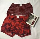 Michael Kors Mens Underwear Airsoft Touch Stretch 2 Woven Boxer Red  S M L XL