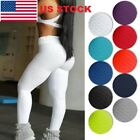 NEW Ladies Yoga Gym Anti-Cellulite Compression Leggings Butt Lift Elastic Pants