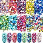 Mixed Size AB Colourful Crystal Nail Art Rhinestones Non Glass Stones 3d Glitter