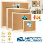 Cork Notice Message Board Wood Frame 2 Sided Office Memo Home Pinboard