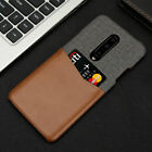 Slim Luxury Hybrid Canvas Leather Card Hard Skin Cover Case For OnePlus 7 /Pro