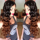 Brazilian Loose Curly Hair 100% Human Ombre 1b/30 Dark Brown Weave Extensions