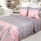 Soft 100% Cotton Duvet Cover Pink Gray High Quality Floral Pattern image