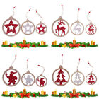 Decor Hanging Christmas Tree Ornament Party Supplies Santa Claus Wooden Tag