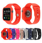 Silicone Band Strap + Case Cover For Apple Watch Series 5 4 3 2 1 42/44 38/40mm image