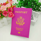 Leather Passport Holder Cover Travel case Wallet USA Emblem Gold