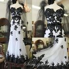 Gothic Black Lace Appliques Mermaid Wedding Dresses Beaded Strapless Bridal Gown