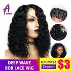 Short Bob Deep Wave Lace Wig 13*4 Lace Front Human Hair Wigs Preplucked Hairline