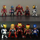 Model Toy Collection Full Set Marvel Avengers Action Figure Iron Man Thor Etc.