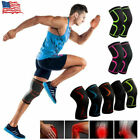 US 1 Pair Knee Support Brace Straps Guard Sleeve Gym Weight Lifting Wraps Sports $8.99 USD on eBay