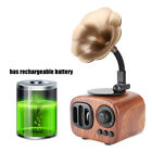 Portable Retro Gramophone Shape Wireless Bluetooth Stereo Speaker USB+FM Radio