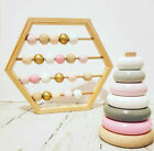 Hexagon Wooden Home Decoration Desktop Decor Kids Gift Toys Mini Abacus Ornament