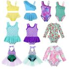 Toddler Baby Girls Kids Swimsuit Swimwear Bathing Suit Beachwear Ruffled Tankini