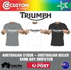 Triumph Classic Logo T-shirt Motorcycle Vintage Classic Bike Racer Indian $21.21 AUD on eBay