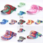 Tie Dye Visor Sun Hat Sports Cap Colors Golf Tennis Beach Adjustable Summer