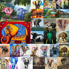 5D DIY Diamond Painting Elephant Animal Embroidery Cross Stitch Crafts Kit Gift $7.45 AUD on eBay