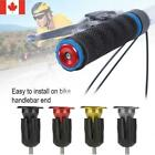 1Pairs Aluminum Alloy Bike Grips Bar End Caps Plug For MTB Road Bicycle Handle.