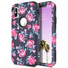 Hard Marble Case for iPhone 7 8 Plus X Xs Max XR Case Rose Flower Cover US Ship
