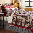 GLORY Quilt -Choose size & accessories- Cotton Star Patchwork Chambray VHC Brand image