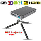 Mini Pocket Android7.1 Projector DLP 2.4G/5G WiFi 3D Home Theatre Cinema BT4.0