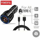Super fast Car Charger, Qualcomm QC3.0 Certified (2 USB Port) For Iphone,Samsung
