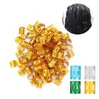 100pcs Colorful Hair Braid Beads Rings Cuff Hair Wig Accessories Adjustable