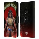 OFFICIAL WWE EMBER MOON LEATHER BOOK WALLET CASE FOR SONY PHONES 1