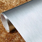 Stainless Steel Brushed Contact Paper Self Adhesive Kitchen Furniture Wallpaper