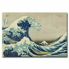 The Great Wave at Kanagawa 12x18 24x36inch Japanese Famous Painting Silk Poster