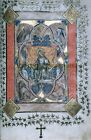 Christ in Majesty from The Gotha Missal 1375 AD Reprint Leaf Manuscript