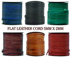 Xsotica  Genuine Flat Leather Cord - 5mm X 2mm -1 Yard