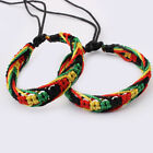 1Pcs Rasta Friendship Bracelet Wristband Cotton Silk Reggae Jamaica Bangle