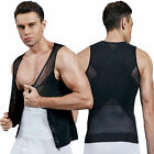 Men'S Chest Compression Shirt To Hide Gynecomastia Moobs Body Shaper Weight Loss