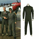 Top Gun Costume Mens Flight Pilot Jumpsuit Army Soldier Cosplay Halloween Party