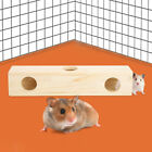 Small Animal Wood Tunnel Exercise Tube Pet Molar Toy for Hamster 2 Shapes