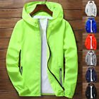 NEW Men's Waterproof Windbreaker ZIPPER Jacket hoodie Light Sport Outwear Coat