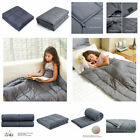 Kids Weighted Gravity Blanket Sensory Sleep Reduce Anxiety for Child 12 & 15 lbs