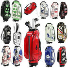 9 Inch Golf Cart Carry Bag with Stand & Handle Waterproof Golfer Tackle Pouch
