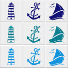 Lighthouse Anchor Sail Boat Tile Stickers Bathroom Nautical Wall Art *3 Designs*