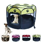 Pet Dog Cat Playpen Tent Exercise Fence Kennel Cage Portable Soft Crate House!