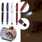 4 in1 Capacitive Stylus iPad Touch Screen Ballpoint Pen LED Light Laser Pointer