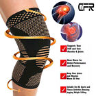 Copper Compression Knee Support Brace Sport Joint Pain Arthritis Relief Sleeve C $7.53 USD on eBay