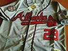 Atlanta Braves #29 JOHN SMOLTZ Cooperstown Limited Edition Patch sewn Jersey GRY on Ebay