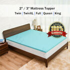 Cool Gel Memory Foam Mattress Topper Bed Pad 2''/3'' Queen King TwinXL Full Size image