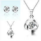 Flowers Sterling Silver Jewellery Set Free Gift Bag