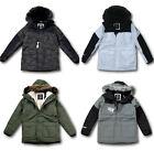 NWT Hollister by Abercrombie&Fitch Men's Faux-Fur-Lined Parka All-Weather Jacket
